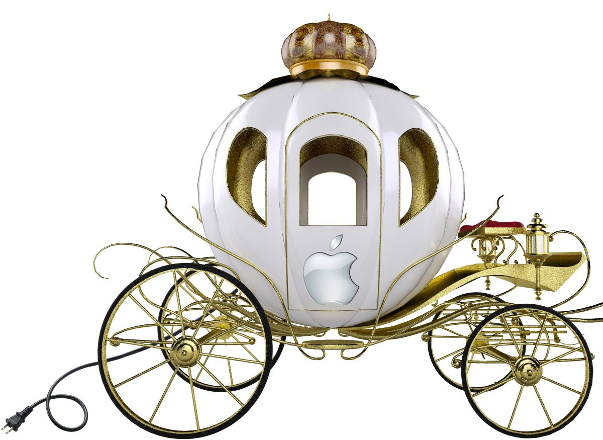 Apple Car Artist Rendition, with Electric Plug