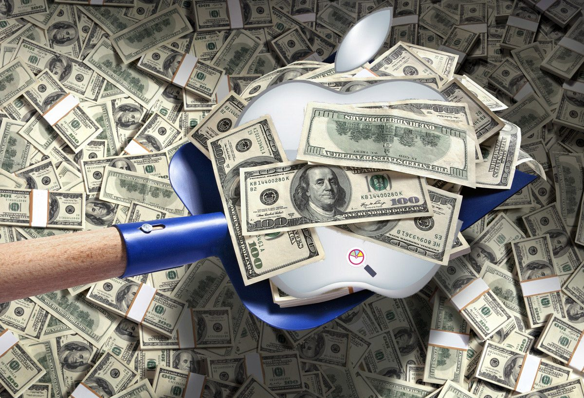 Searching for market share amidst Apple's pile of profits.