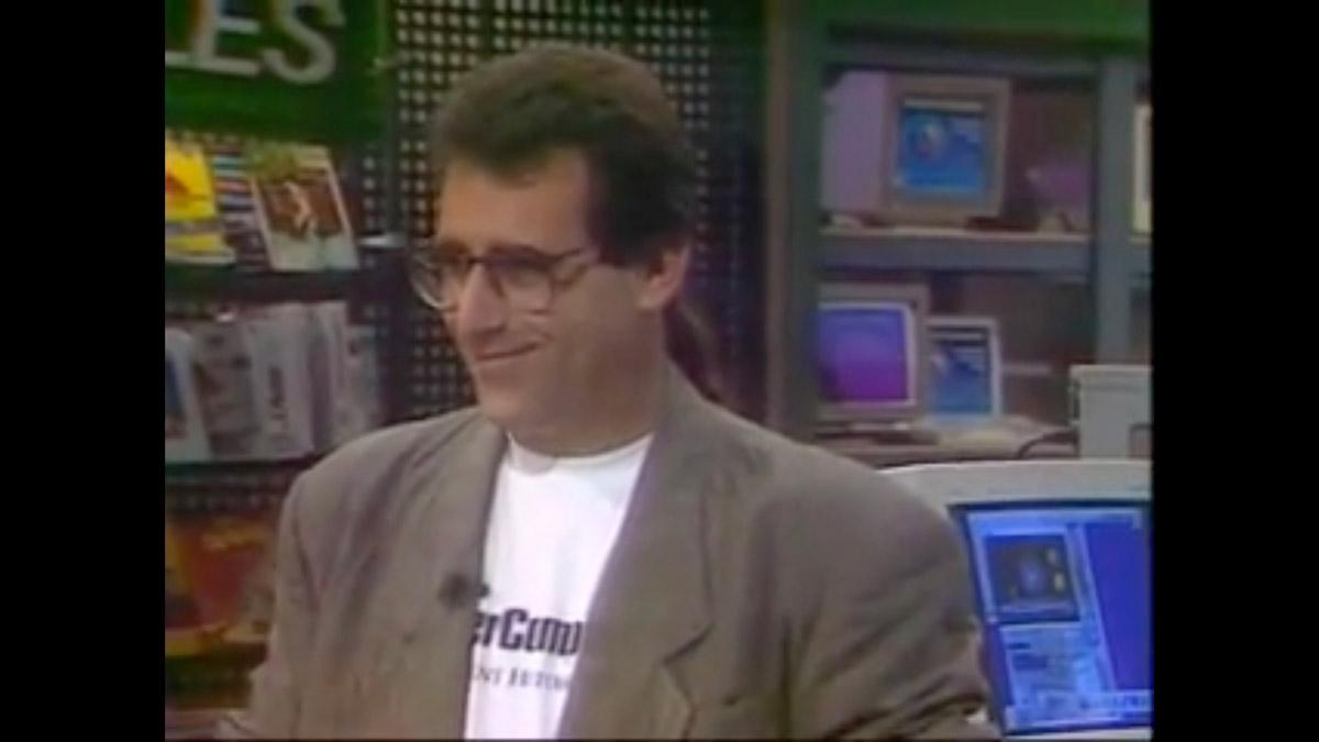 """Bob """"Dr. Mac"""" LeVitus and his 1995 ponytail!"""