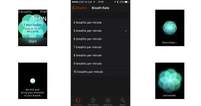 watchOS 3's new Breathe app, now in beta
