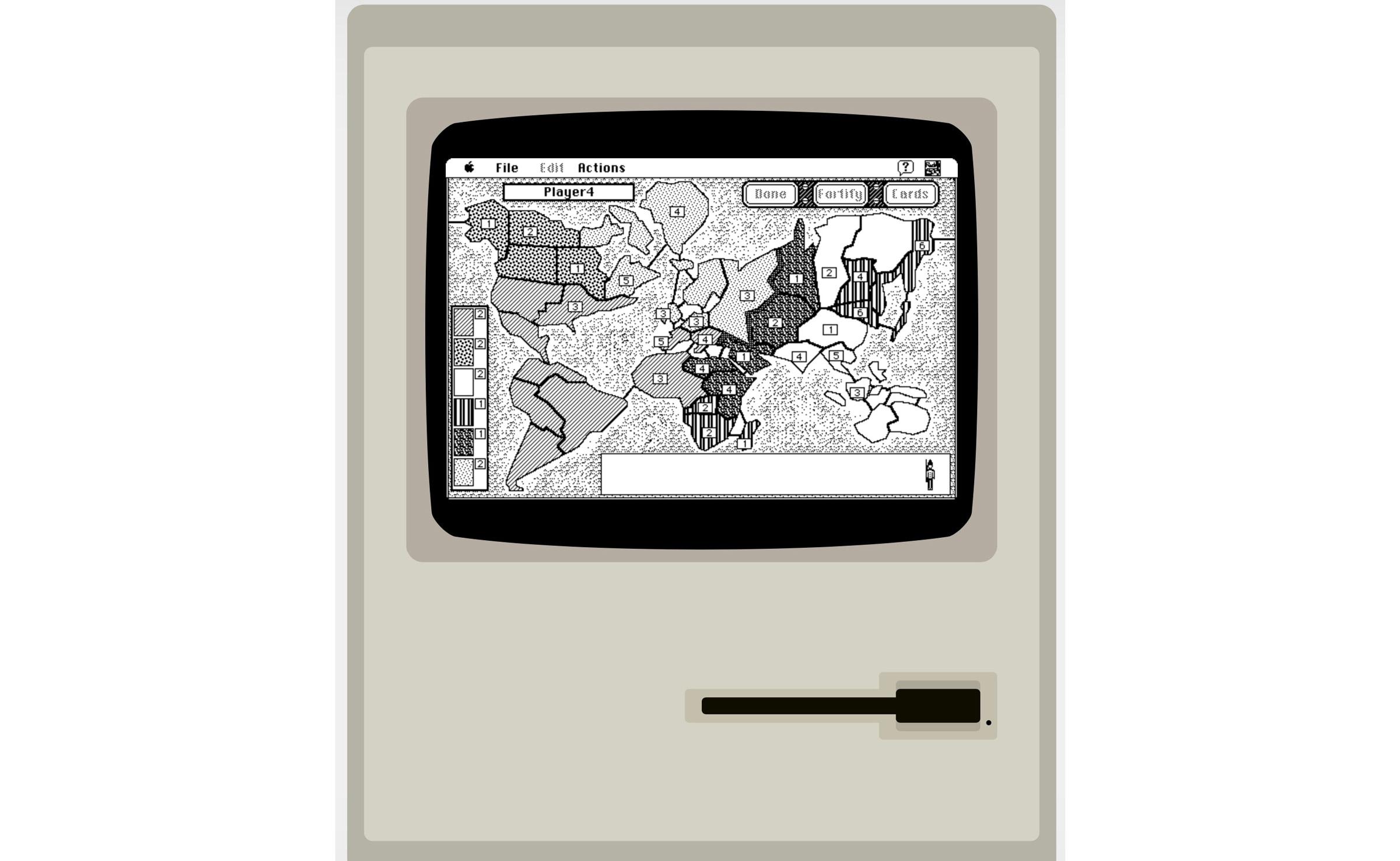 Play Risk and Oregon Trailer on MacPlus System 7 Emulator