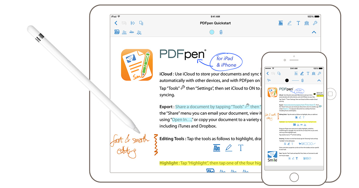 PDFPen 2 for iPhone, iPad gets Apple Pencil Support