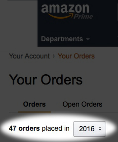 I've bought 47 things from Amazon so far this year...