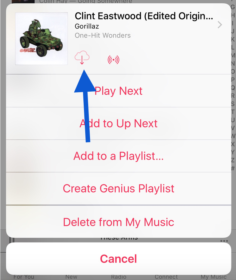iOS Music Cloud Icon