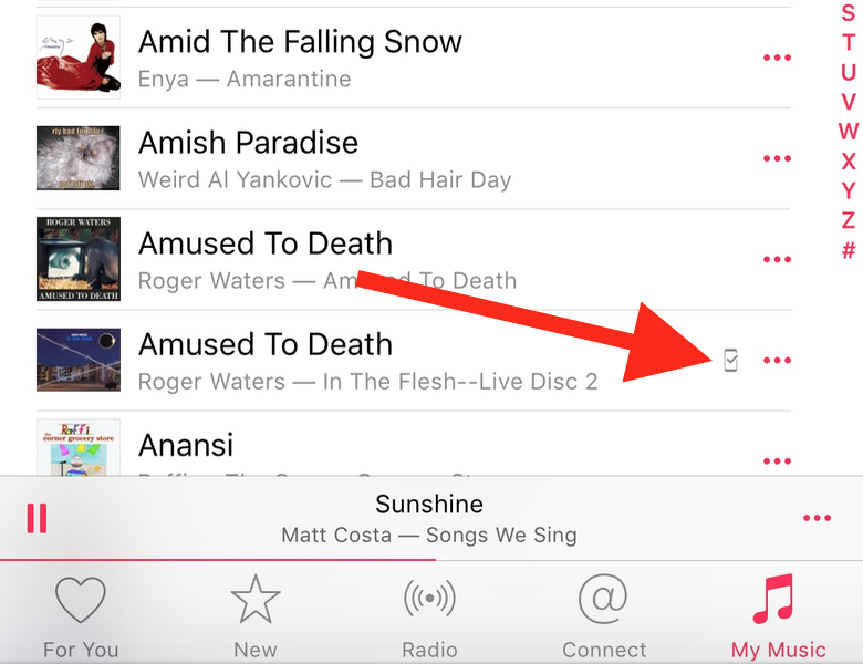 iOS Music Downloaded
