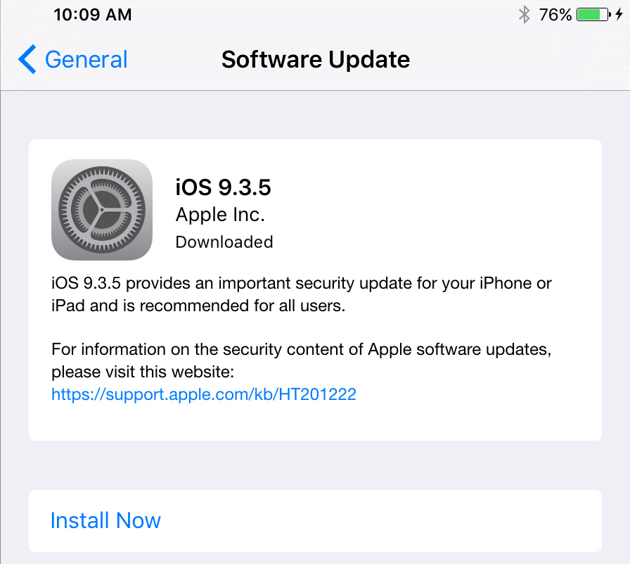 If this update is available, you'd be wise to install it ASAP.
