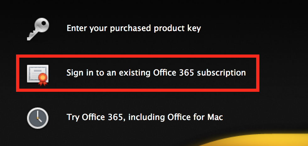 Microsoft Office License Info