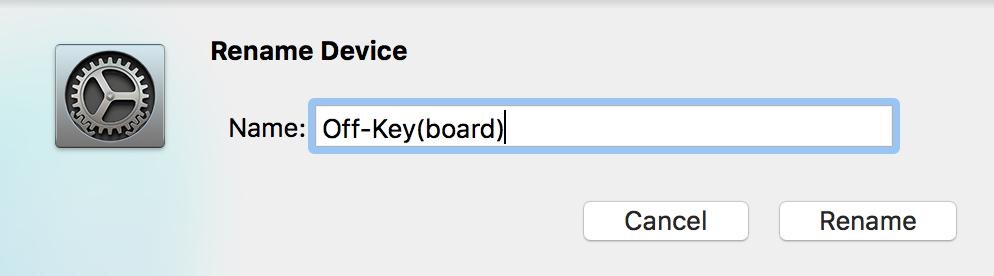 Off-Keyboard