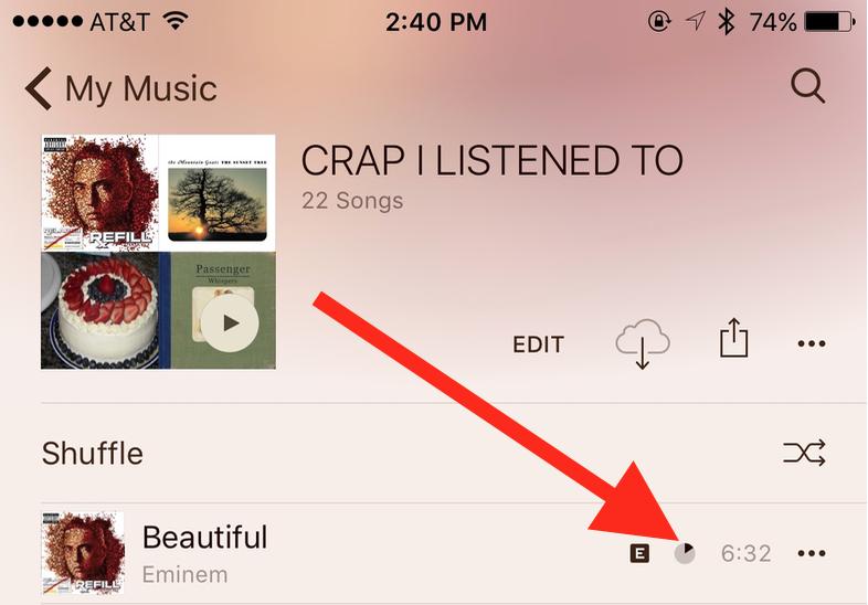 iOS Music Progress Wheel