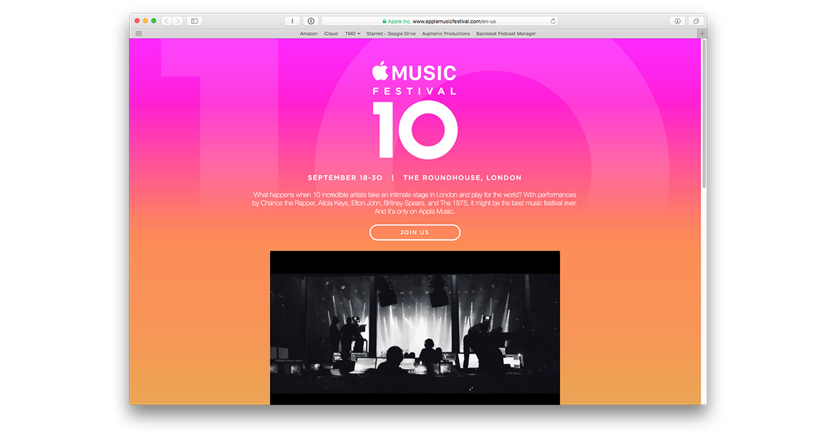 10th annual Apple Music Festival