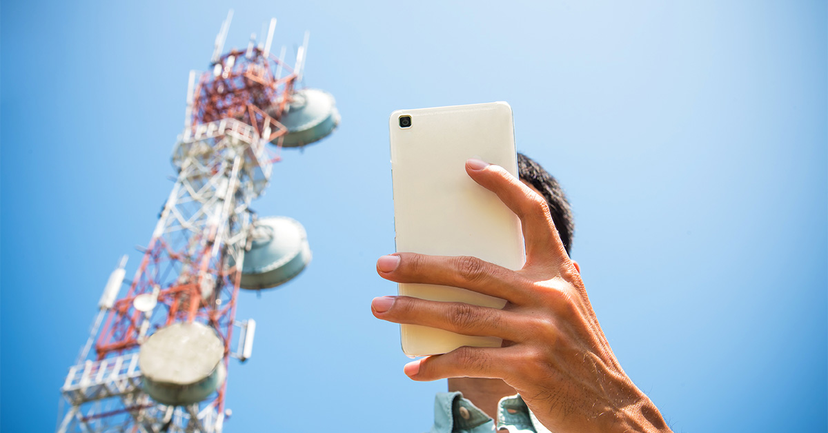 mobile phone and cell tower