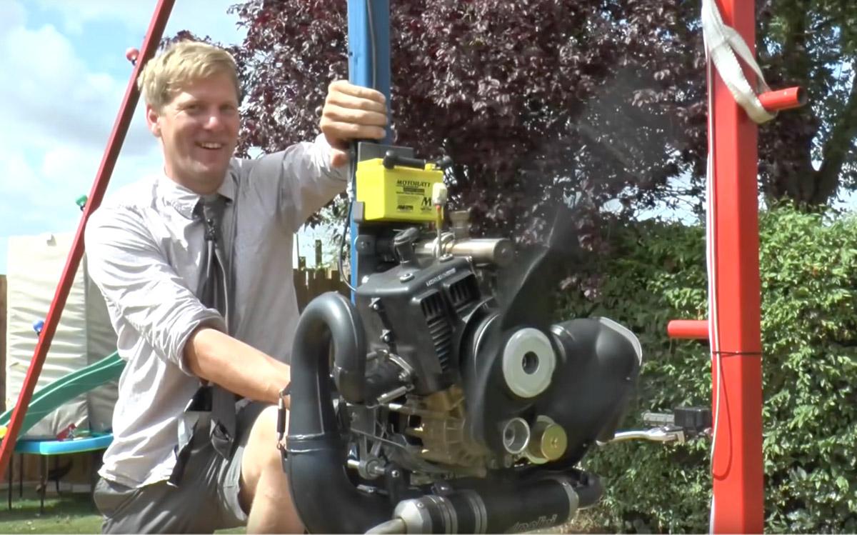colinfurze's motorized swing