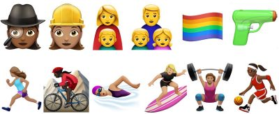 Sample from Apple's New Emojis in iOS 10