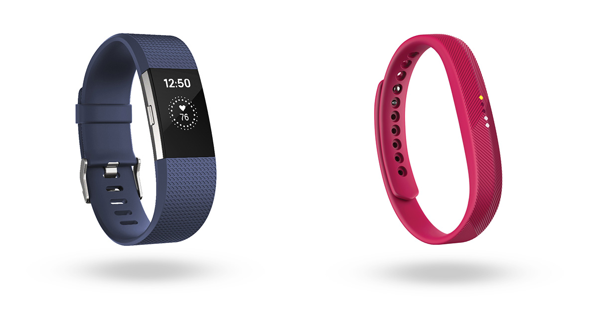Fitbit Charge 2 and Flex 2