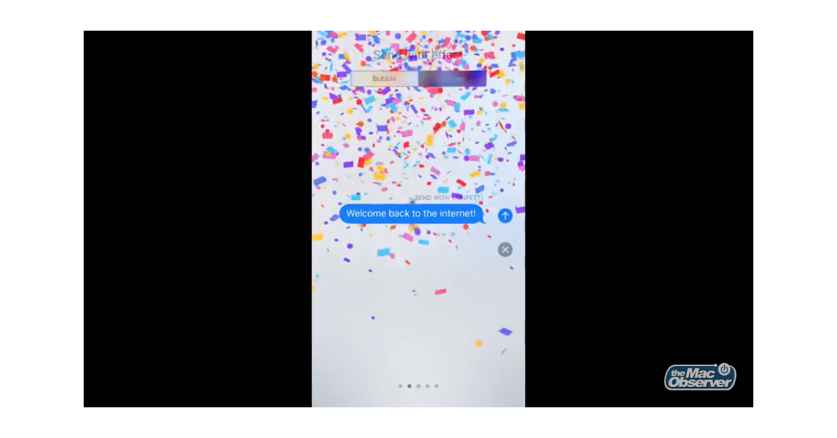 iOS 10 Messages screen effects