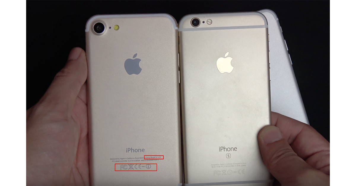 Fake iPhone 7 model number