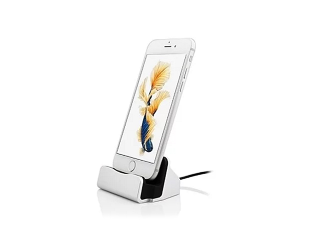 iPhone Charging Dock Station (Silver): $17.98