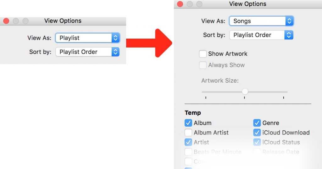 iTunes Playlist Column Browser
