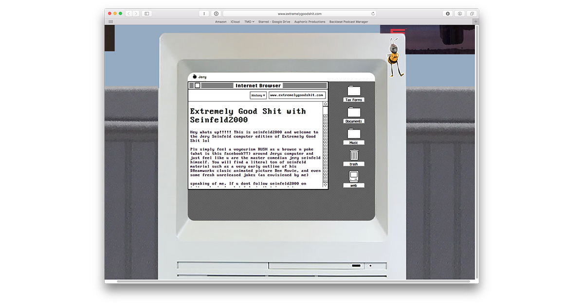 Check Out Jerry Seinfeld's Mac in Your Browser