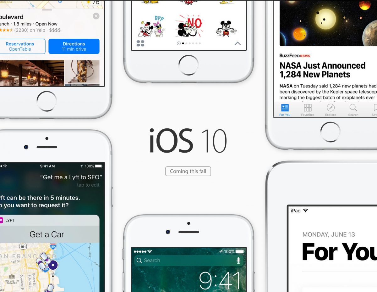 New iOS 10 features