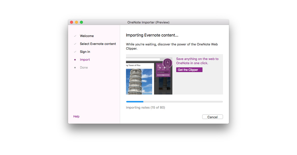 Microsoft Releases OneNote Evernote Importer for Mac