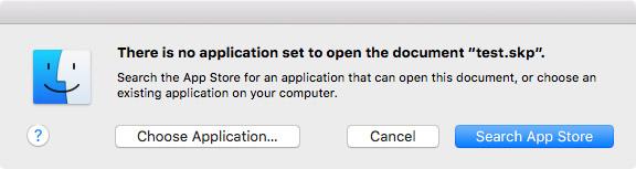 OS X Choose Application Dialog