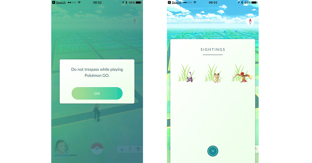 Pokémon GO Update Replaces Nearby Feature with Sightings