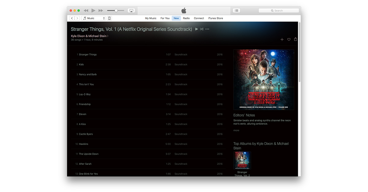 Get Your 80s Synth on with the Stranger Things Soundtrack on Apple Music