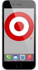 iPhone with Target Logo