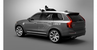 Uber self-driving Volvo