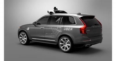 Uber self-driving Volvo