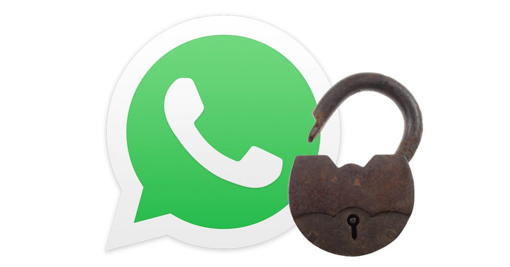 WhatsApp open padlock