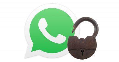 WhatsApp open padlock