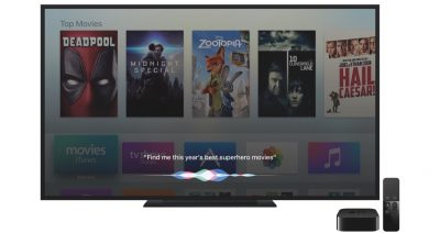4th gen Apple TV with Siri