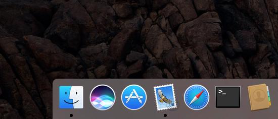 macOS Sierra Siri Dock