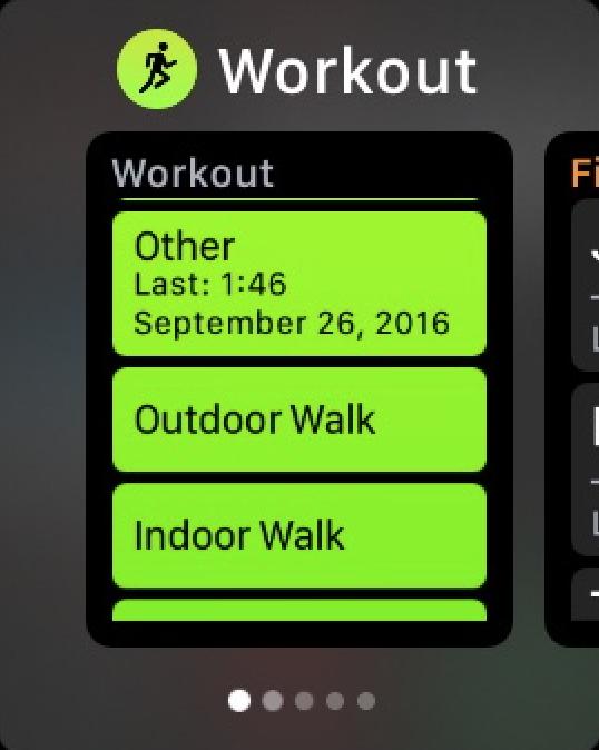 Apple Watch watchOS 3 Dock