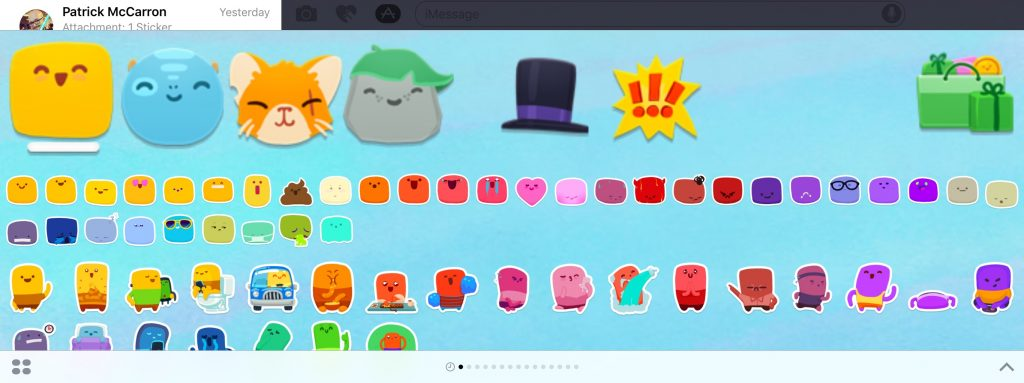 iMessage stickers from David Lanham and Impending