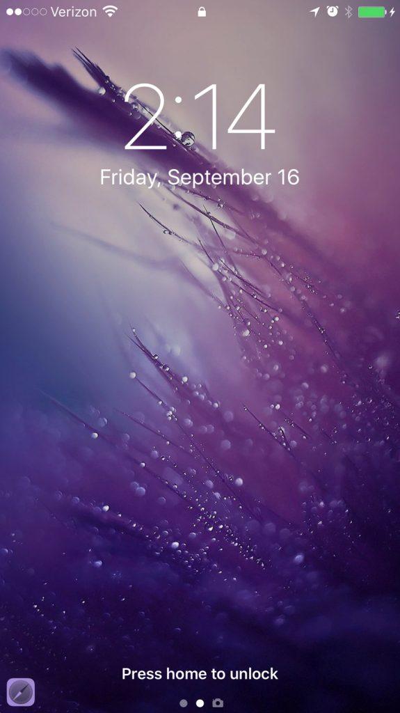 iOS 10 new lock screen