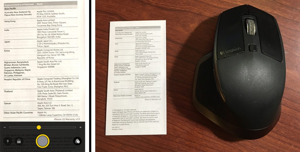 The Magnifier is better than the camera for reading fine print...