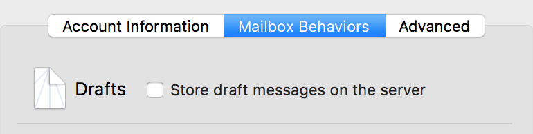 Mac Mail Mailbox Behaviors