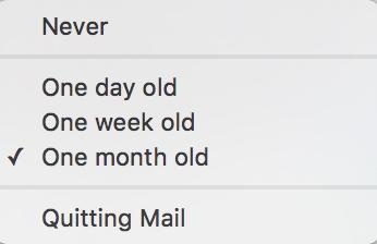 Mail Trash Options