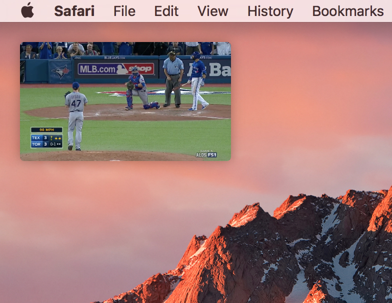 macOS Sierra Picture in Picture Viewer