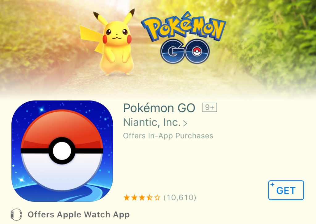 The Apple Watch version of Pokémon GO isn't out yet…