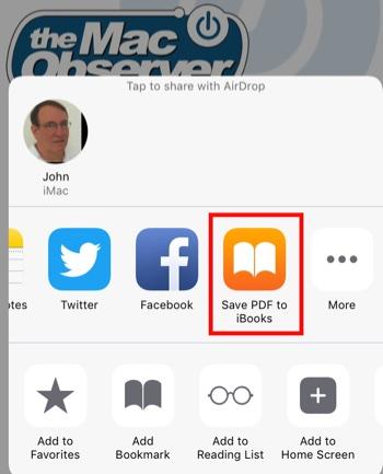 Share Sheet on iPad