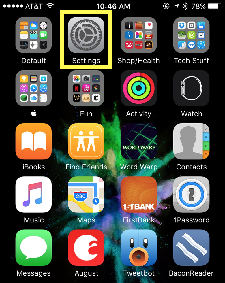 iOS 10 Settings