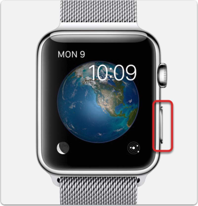 Apple Watch watchOS 3 Side Button