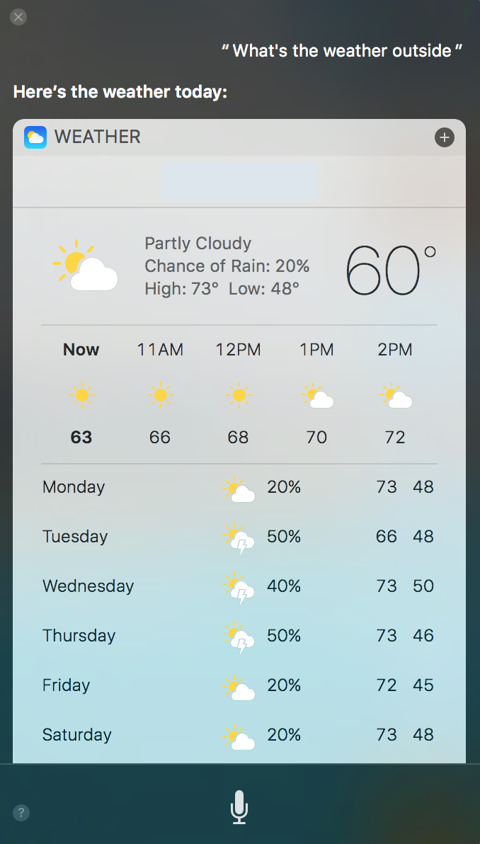 iOS Siri Weather