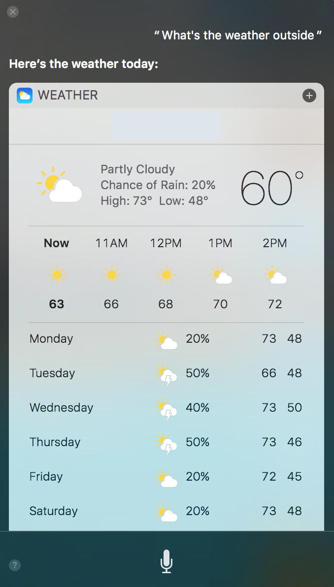 iOS Siri Weather