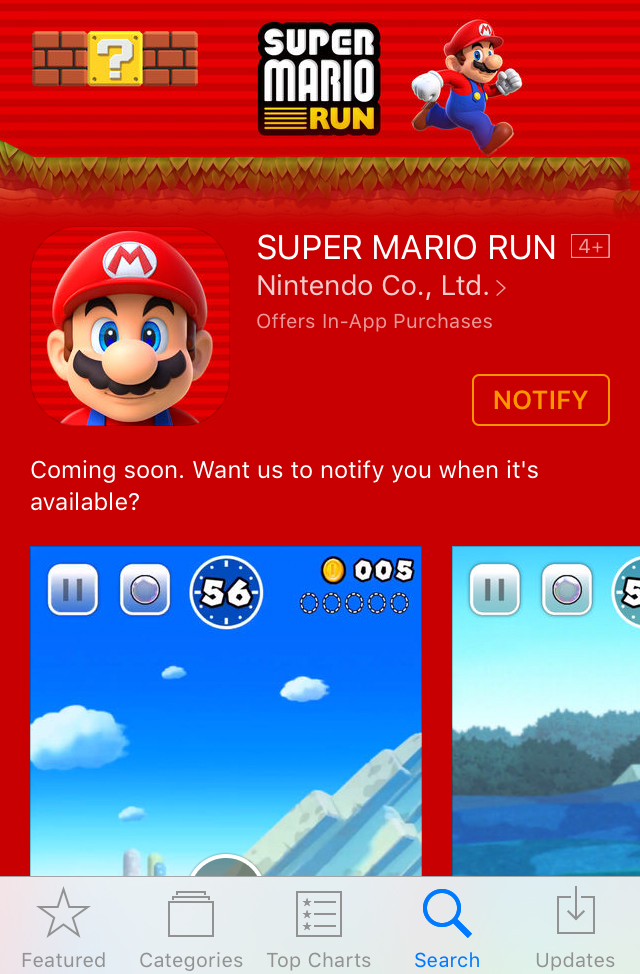 Super Mario Run - Available Soon for iOS 10