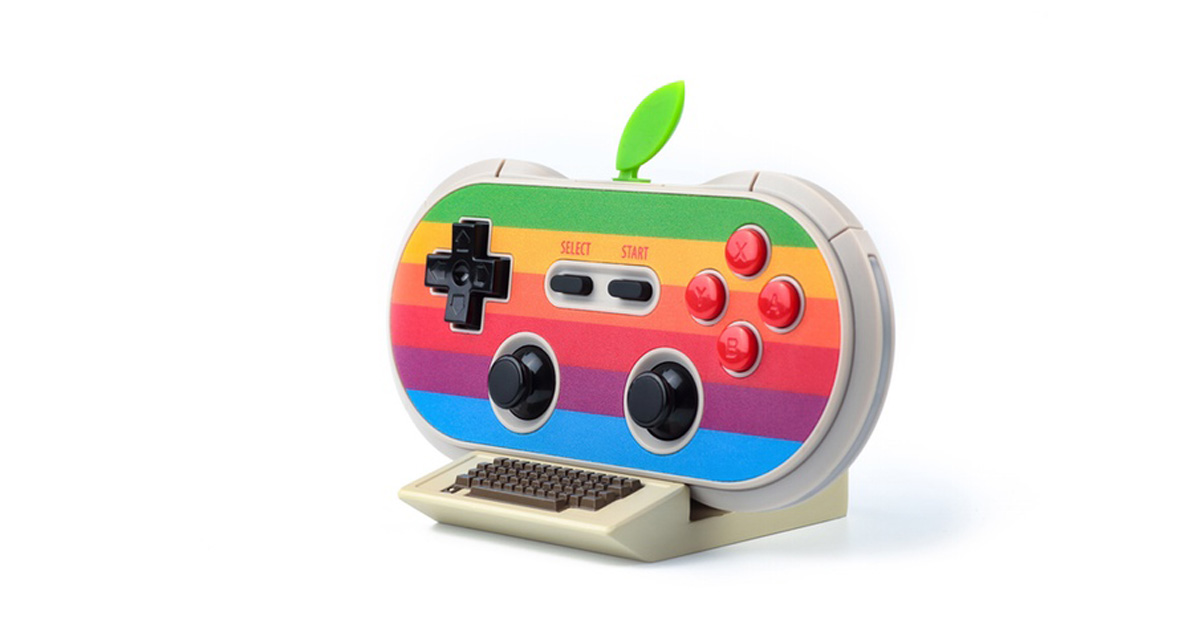 8Bitdo Goes Retro with Apple-themed Game Controller for iPhone, iPad